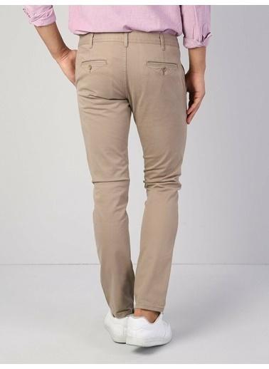 Colin's Slim Fit Orta Bel Düz Paça Erkek Lacivert Pantolon Bej